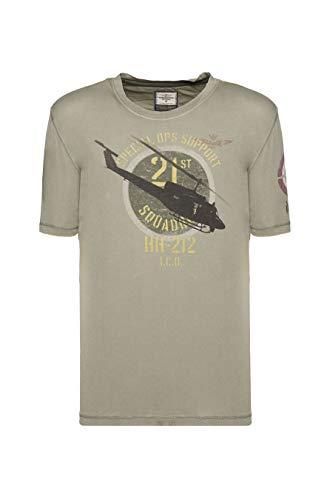 Aeronautica Militare heren T-shirt 201TS1730J404 07226-groen military