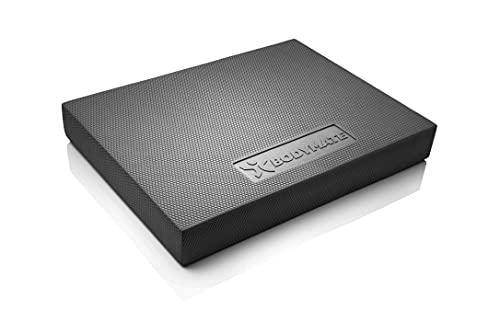 BODYMATE Balance Pad 2GO 44x33x6cm SCHWARZ, WEICHE Variante für Freizeit- und Profi-Sportler, Stabilitäts- und Core-Training, Verbesserung von Gleichgewicht, Koordination und Stabilität