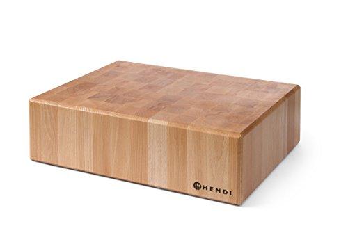 Hendi 505632 Billot en bois sans piètement