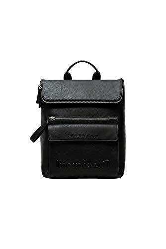 Desigual PU Backpack Medium, Zaino Medio Donna, Nero
