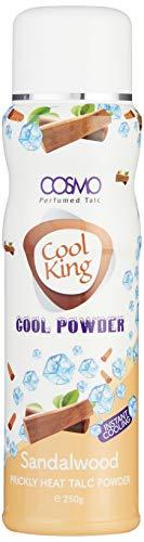 Cosmo Cool King - Polvo de talco perfumado en polvo de sándalo