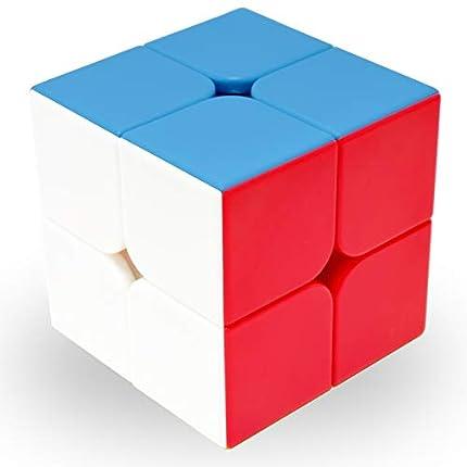 Maomaoyu Cubo Magico 2x2 2x2x2 Original Puzzle Cubo de la Velocidad Niños Juguetes Educativos, Stickerless