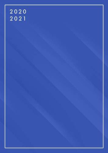 Kalender 2020 2021 1 Seite 1 Tag: Din A4 Tagesplaner von Juli 2020 bis Juni 2021, Monatsplaner, Jahresplaner, 1 Seite pro Tag, Kalenderbuch XXL, Kalender 2020/2021, blau, schlicht