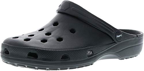 ConWay Damen Herren Clogs Pantoletten schwarz, Größe:42, Farbe:Schwarz