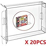 WiCareYo Funda de caja clara 20pcs para la caja del cartucho de juegos SNES N64