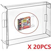 WiCareYo 20PCS Clear Box Hülse für SNES N64 Spiele Cartridge Box
