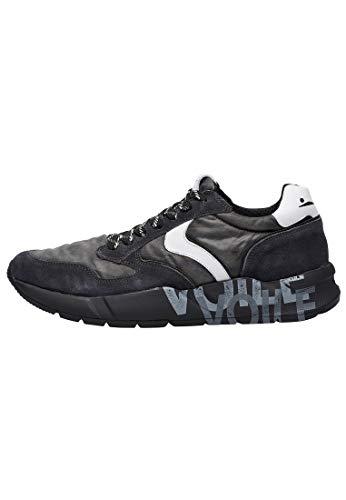 VOILE BLANCHE ARPOLH Easy-Sneaker in Pelle e Tessuto Tecnico decolorato Grigio 43
