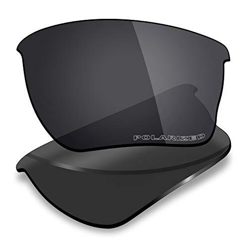 Mryok+ Polarized Replacement Lenses for Oakley Quarter Jacket - Stealth Black