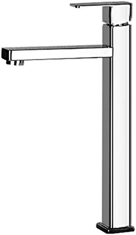 ETERNAL QUALITY Badezimmer Wasserhahn Messing Hahn Waschraum Mischer Single - Last hoch auf Dem Waschbecken Wasserhahn Hohe Quartett Einzigen Griff Einloch Mischbatterie Tippen Sie