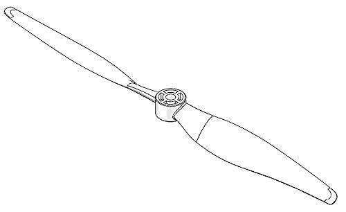 224448 - Multiplex Propeller 15x8 FunCub XL
