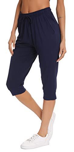 Vlazom Pantalones de Pijama Mujer Verano,Partes de Abajo de Pijamas para Mujer