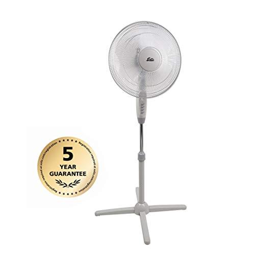 Solis Standventilator, Ventilator Leise, höhenverstellbar (120-140 cm), 3 Verschiedene Geschwindigkeiten, 55,4 x 51,5 x 16,5 cm (Typ 748)