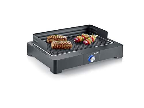 SEVERIN Barbecue de Table 2 200 W, Bac à Eau, Gril en...