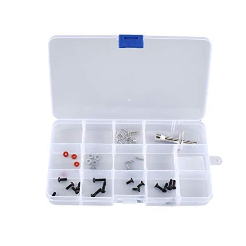SeniorMar-UK 15 Steckplätze Zellen Tragbarer Werkzeugkasten Elektronische Teile Schraubperlen Ringschmuck Komponentenkasten Kunststoff-Aufbewahrungskasten Behälterhalter