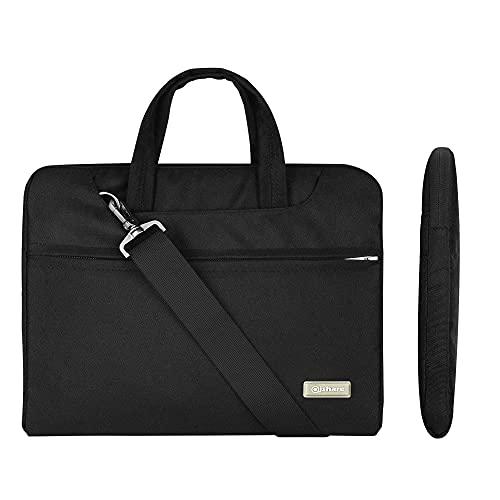 Qishare Multifunktionale Laptoptasche für 38,1-40,6 cm (15-15,6-16 Zoll), Schwarz