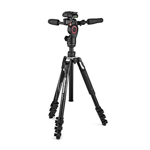 Oferta de Manfrotto Befree 3-Way Live Advanced - Trípode y Cabezal de Aluminio para Cámaras y Videocámaras de hasta 6 kg, Ultracompacto - Accesorio para la Creación de Contenidos, Fotos y Videos