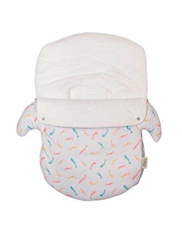 Baby Bites Original–Schlafsack hellgrau, bedruckt, für Stuhl Gruppe 0Sardinen