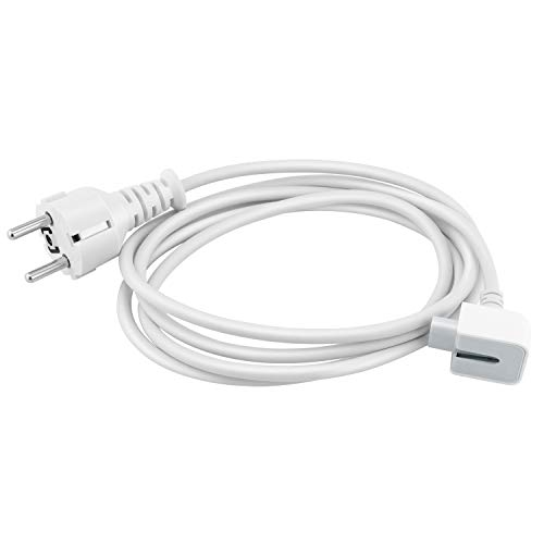 Ywcking 1.8 m power supply extension cable, replacement cable, wall cable for all Mac Book adapters, Mac iBook Mac Book Pro/Air Mac Book power supplies, 13, 15 and 17 inches, 45 W, 60 W, 85 W models.