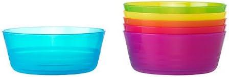 Ikea Kalas 301.929.60 BPA-Free Bowl, Assorted Colors, 6-Pack