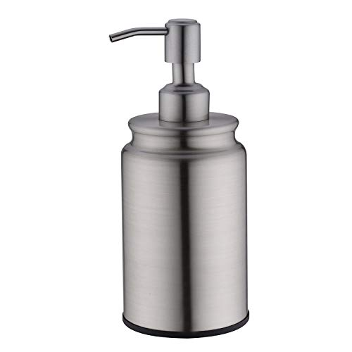 EKRTE Soap Dispenser Stainless Steel Rust and Leak Proof Hand Soap Dispenser Liquid Soap Dispenser Brushed Nickel Soap Dispenser for Kitchen Sink and Bathroom