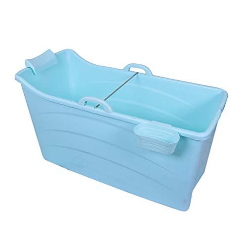 Bañera Plegable Adulto para Ducha Grande, Bañera Adulto Portatil Plástico, Tina De Baño Plegable para Adultos para Azul, Bañera De La Piscina del Bebé, Azul/Rosa 120 * 52 * 68cm