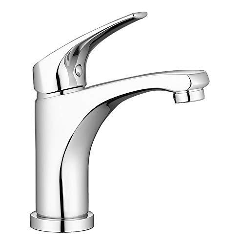 ONECE Wasserhahn Bad Armatur Waschbecken Badarmatur Messing Einhebelmischer Waschtischarmatur, Chrom