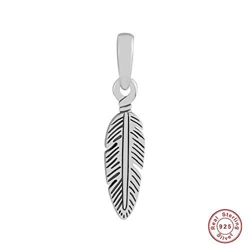 Chicbuy 2018Summer spirituale piuma ciondolo in argento Sterling 925DIY adatto per originale Pandora bracciali charm Fashion Jewelry