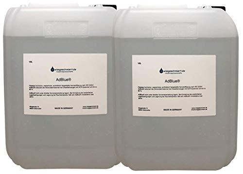 Knaus Schmierstoffe 2 x 10 Liter AdBlue/Zusatz zur Abgasreinigung für PKW und LKW 20L Hoyer