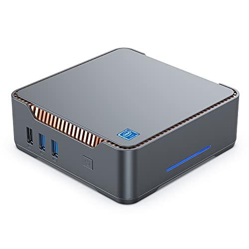 Mini-PC, Intel Celeron J4125 Windows 10 Pro Mini-Desktop-Computer, 6GB DDR4 + 128GB ROM, Unterstützung von 2X HDMI+1X VGA, Dualband-WLAN, Gigabit-Ethernet, BT 4.2