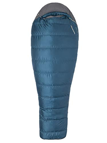Marmot Ironwood 20 Mummy Lightweight Sleeping Bag, 20-Degree Rating, Denim/Steel Onyx