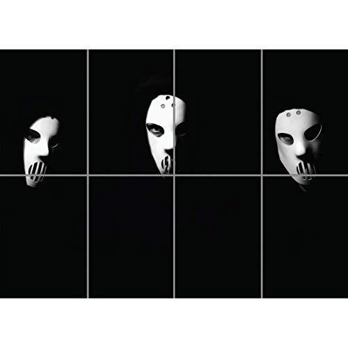 Doppelganger33 LTD Angerfist Hardcore Gabber Music Producer Kid Morbid Masks Wand Kunst Multi Panel Poster drucken 47x33 Zoll