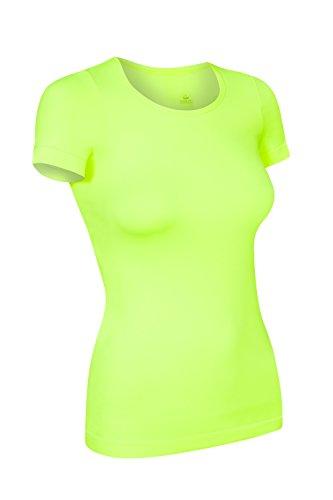 Assoluta Damen T-Shirt Kurzarm, Größe L, neon gelb