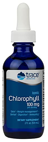 Trace Minerals Research Chlorophyll - Stimulates Immune Function - Antioxidant - Helps Deal with Fungus - Detox - Reduce Bad Body Odors - Increase Energy - Stamina - Antioxidant - 2 oz