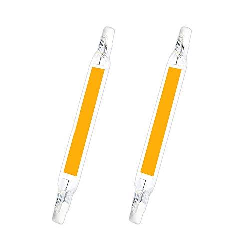 R7S LED Glühbirnen, ABEDOE 78/118mm LED Cob Lampe AC 5/10W Ersetzen Sie die Halogenlampe LED Spot Glühbirne 2er Pack (kaltweiß, 15W-118mm-230V)