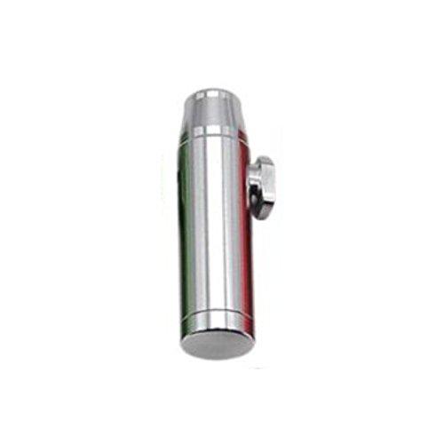 Dosificación Cucharada Sniff Botella de Tabaco dispensador Sniffer de Color Dispensador de Metal de M & M Smartek Alemania (Plata)
