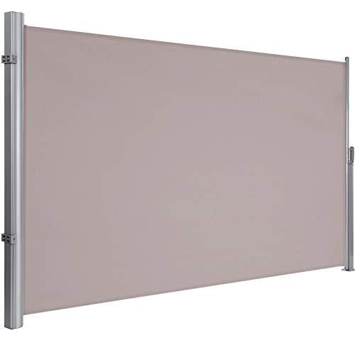 LCSA Seitenmarkise Windschutz Markise Sonnenschutz Seitenrollo 180x350cm für Balkon (Color : Taupe)