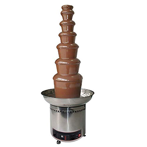 Electop 7 Tiers New Version Chocolate Fountain Commercial Luxury Stainless Steel 43x103cm for Wedding Party Hotel