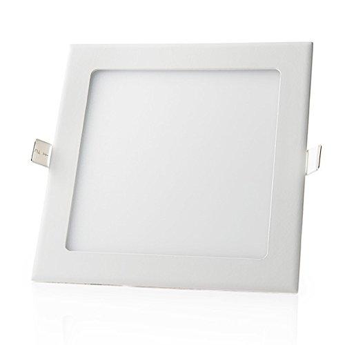 LEDUNI Panneau LED carré 24 W 2480 lm Blanc froid 6000 K Angle 120 IP40 Aluminium 300 x 300 x 20 mm Dimensions de coupe 285 mm