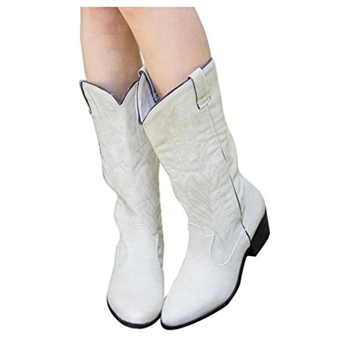 AODONG Cowboy Boots for Women Wide Calf Cowgirl Fashion...