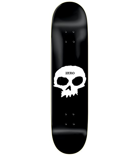 Zero Skateboards Skateboard-Brett / Deck, Totenkopf-Design, 21 x 82,5 cm