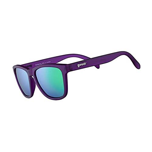 goodr RUNNING SUNGLASSES - (Purple w/Purple&Teal Lens)