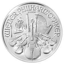 1 Unze Silbermünze Wiener Philharmoniker 2010 oz Silber einzeln in Münzkapsel verpackt