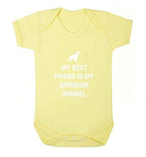 Flox Creative Baby Vest Best Friend Springer Spaniel - Jaune - XS