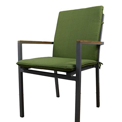 Nordje Gartenmöbel-Auflage Basic für Niederlehner mit dem Maß 100x49x5cm (HöhexBreitexStärke) | Sitzkissen Outdoor | Polsterauflage für Gartenmöbel (Grün)