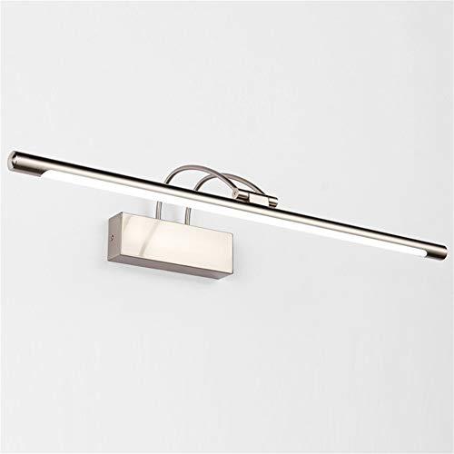 XFXDBT Led 16w Schminklicht Badleuchte Wandleuchten,trendiger Bilderleuchte Wasserdicht Ip44 180° Drehbar Spiegelleuchte-kühles Weiß 75cm+16w