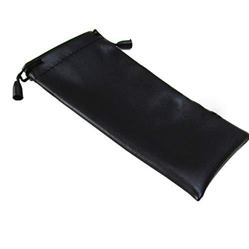 WZDTNL Bolsa de cuero con cordón para gafas, funda de cuero con cordón, bolsa suave para guardar gafas para ropa de ojos