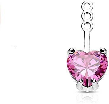 10mm Prong Set Heart CZ Earring Ranking integrated 1st place Add Stud Store on Cartilage Dan Jacket