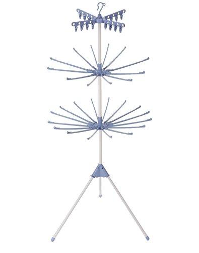 ものほしスタンドコスモス3段 ホワイト&ブルー