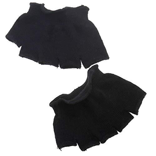 OTOTEC paar katoenen teen scheiden sokken hak pijn verlichting voet kussen beschermer hydraterende sokken zwart/wit