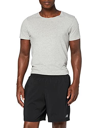 New Balance Corto Corto Corto de 7 Pulgadas, Hombres, Hombre, Pantalones cortos, MS11201, negro, L